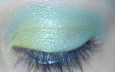 tutorial make up lime green