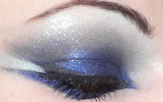 tutorial gli angeli make up blu e argento