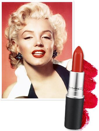 marilyn monroe mac lipstick