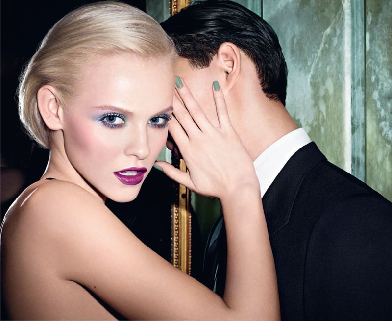 YSL-Arty-Stone-Makeup-Collection-for-Spring-2013-promo-with-Ginta-Lapina1