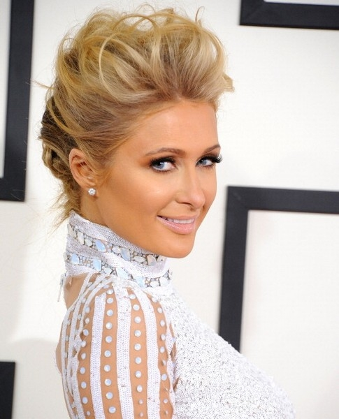 Paris-Hilton_make up grammy 2014