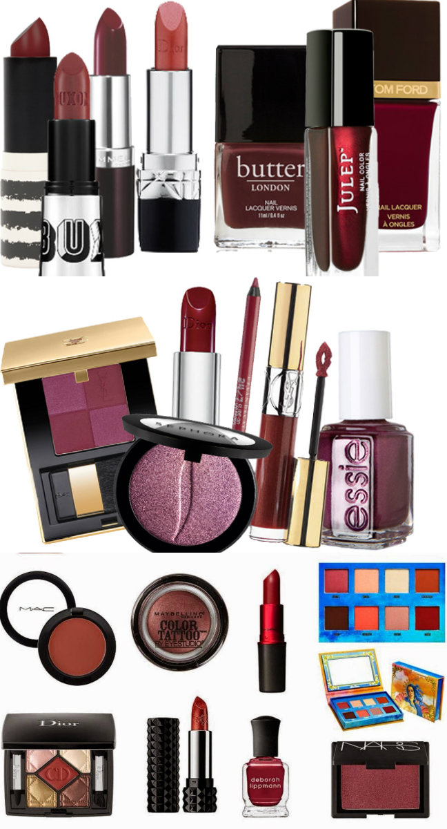 pantone make up trend marsala.