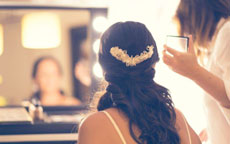 postazione make up sposa
